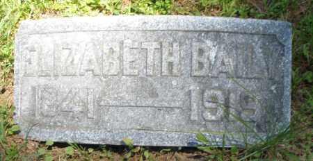 BAILY, ELIZABETH - Warren County, Ohio   ELIZABETH BAILY - Ohio Gravestone Photos