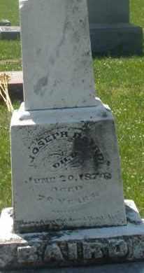 BAIRD, JOSEPH - Warren County, Ohio   JOSEPH BAIRD - Ohio Gravestone Photos