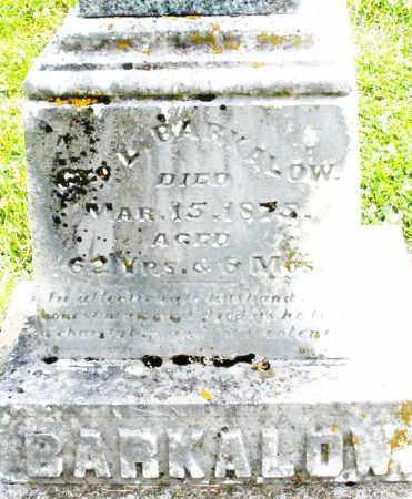 BARKALOW, GEORGE - Warren County, Ohio | GEORGE BARKALOW - Ohio Gravestone Photos