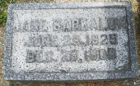 BARKALOW, JANE - Warren County, Ohio   JANE BARKALOW - Ohio Gravestone Photos
