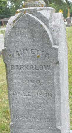BARKALOW, MARYETTA - Warren County, Ohio | MARYETTA BARKALOW - Ohio Gravestone Photos