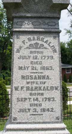 BARKALOW, WILLIAM F. - Warren County, Ohio | WILLIAM F. BARKALOW - Ohio Gravestone Photos