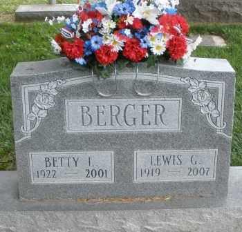 BERGER, BETTY - Warren County, Ohio | BETTY BERGER - Ohio Gravestone Photos