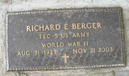 BERGER, RICHARD E. - Warren County, Ohio   RICHARD E. BERGER - Ohio Gravestone Photos