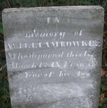 BOWKER, WILLIAM - Warren County, Ohio   WILLIAM BOWKER - Ohio Gravestone Photos