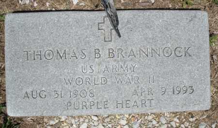 BRANNOCK, THOMAS B. - Warren County, Ohio   THOMAS B. BRANNOCK - Ohio Gravestone Photos