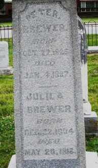 BREWER, PETER - Warren County, Ohio | PETER BREWER - Ohio Gravestone Photos