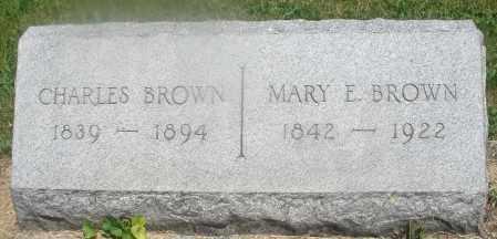 BROWN, MARY E. - Warren County, Ohio   MARY E. BROWN - Ohio Gravestone Photos