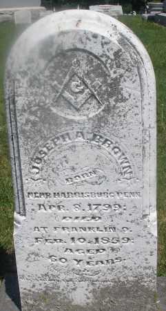 BROWN, JOSEPH A. - Warren County, Ohio | JOSEPH A. BROWN - Ohio Gravestone Photos