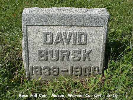 BURSK, DAVID - Warren County, Ohio | DAVID BURSK - Ohio Gravestone Photos