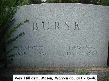 BURSK, BLANCHE - Warren County, Ohio | BLANCHE BURSK - Ohio Gravestone Photos