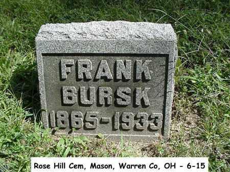 BURSK, FRANK - Warren County, Ohio | FRANK BURSK - Ohio Gravestone Photos