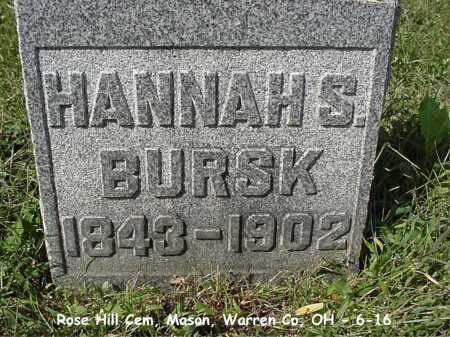 BURSK, HANNAH - Warren County, Ohio | HANNAH BURSK - Ohio Gravestone Photos