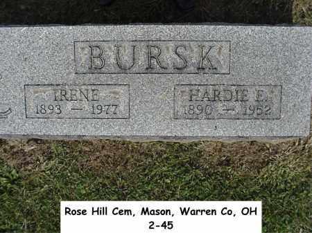 BURSK, HARDIE - Warren County, Ohio   HARDIE BURSK - Ohio Gravestone Photos