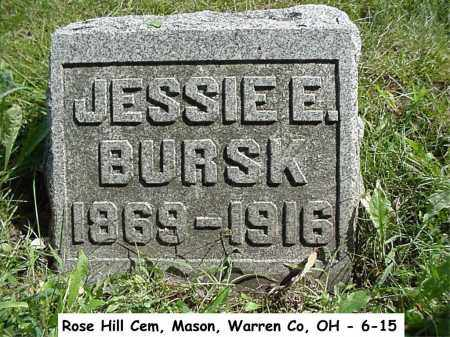 WILLOUGHBY BURSK, JESSIE - Warren County, Ohio | JESSIE WILLOUGHBY BURSK - Ohio Gravestone Photos