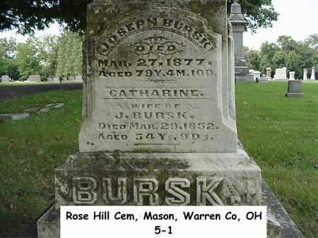 BURSK, JOSEPH - Warren County, Ohio | JOSEPH BURSK - Ohio Gravestone Photos