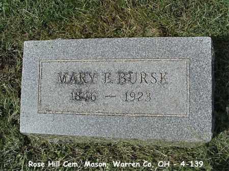 BURSK, MARY E. - Warren County, Ohio | MARY E. BURSK - Ohio Gravestone Photos