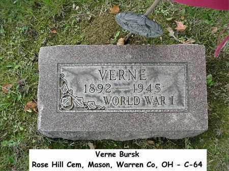 BURSK, VERNE - Warren County, Ohio | VERNE BURSK - Ohio Gravestone Photos
