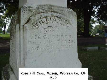 BURSK, WILLIAM - Warren County, Ohio | WILLIAM BURSK - Ohio Gravestone Photos