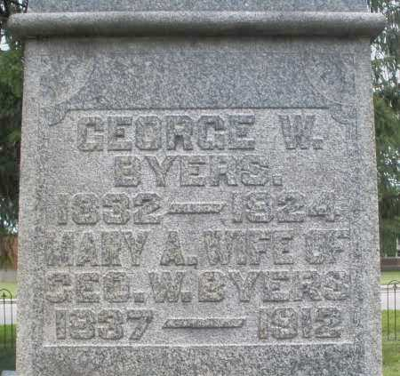 BYERS, MARY A. - Warren County, Ohio   MARY A. BYERS - Ohio Gravestone Photos