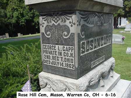 CAPP, GEORGE L. - Warren County, Ohio | GEORGE L. CAPP - Ohio Gravestone Photos
