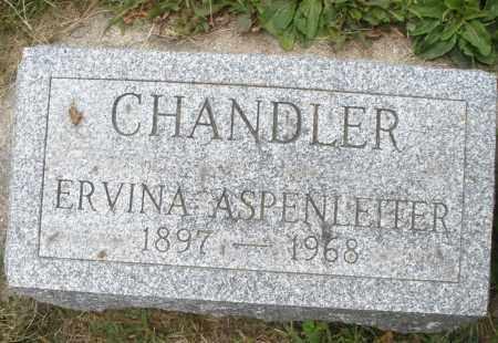 ASPENLEITER CHANDLER, ERVINA - Warren County, Ohio | ERVINA ASPENLEITER CHANDLER - Ohio Gravestone Photos