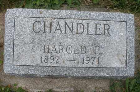 CHANDLER, HAROLD E. - Warren County, Ohio   HAROLD E. CHANDLER - Ohio Gravestone Photos