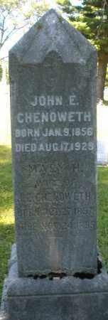 CHENOWETH, JOHN E. - Warren County, Ohio | JOHN E. CHENOWETH - Ohio Gravestone Photos