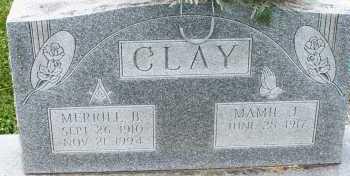 CLAY, MERRILL B. - Warren County, Ohio | MERRILL B. CLAY - Ohio Gravestone Photos