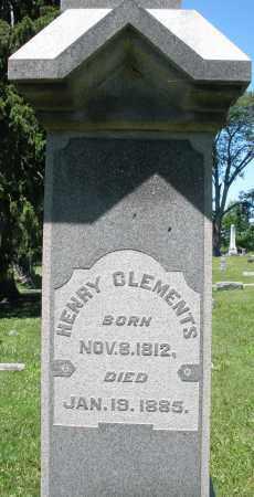 CLEMENTS, HENRY - Warren County, Ohio | HENRY CLEMENTS - Ohio Gravestone Photos