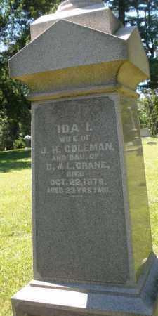 COLEMAN, IDA - Warren County, Ohio | IDA COLEMAN - Ohio Gravestone Photos