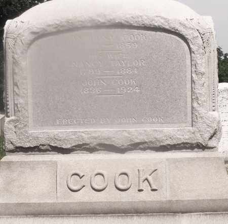 COOK, JOHN - Warren County, Ohio | JOHN COOK - Ohio Gravestone Photos