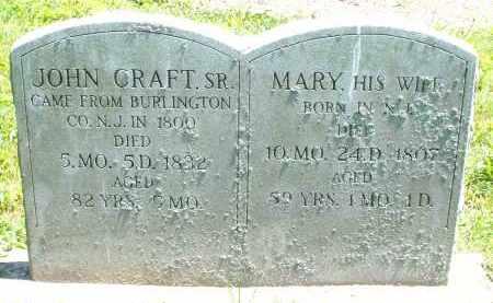 CRAFT, JOHN SR. - Warren County, Ohio   JOHN SR. CRAFT - Ohio Gravestone Photos