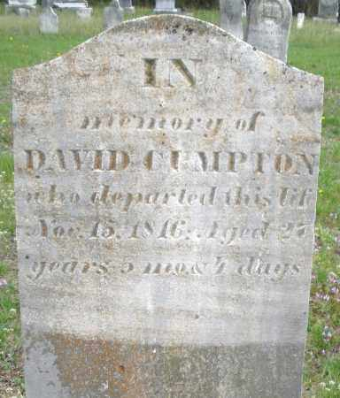 CUMPTON, DAVID - Warren County, Ohio | DAVID CUMPTON - Ohio Gravestone Photos