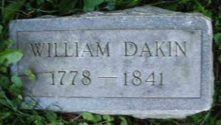 DAKIN, WILLIAM - Warren County, Ohio | WILLIAM DAKIN - Ohio Gravestone Photos