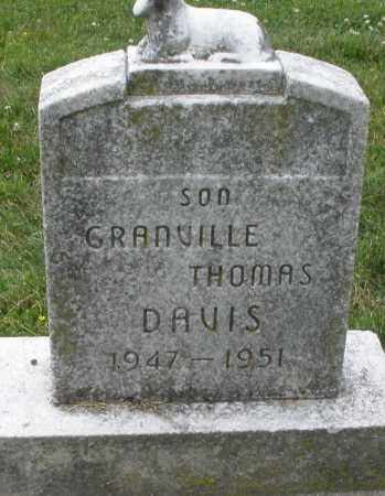 DAVIS, GRANVILLE THOMAS - Warren County, Ohio | GRANVILLE THOMAS DAVIS - Ohio Gravestone Photos