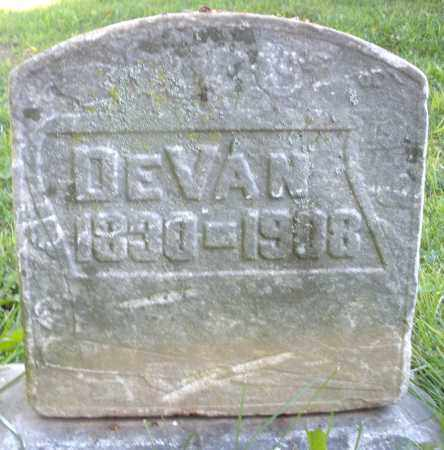 DEVAN, TEMPERANCE - Warren County, Ohio | TEMPERANCE DEVAN - Ohio Gravestone Photos