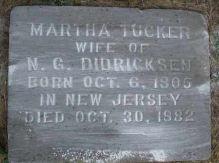 TUCKER DIDRICKSEN, MARTHA - Warren County, Ohio | MARTHA TUCKER DIDRICKSEN - Ohio Gravestone Photos
