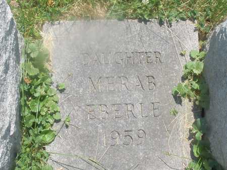 EBERLE, MERAB - Warren County, Ohio   MERAB EBERLE - Ohio Gravestone Photos