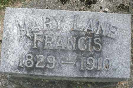 FRANCIS, MARY - Warren County, Ohio | MARY FRANCIS - Ohio Gravestone Photos