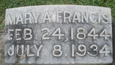 FRANCIS, MARY A. - Warren County, Ohio | MARY A. FRANCIS - Ohio Gravestone Photos