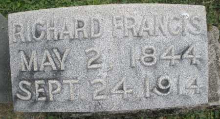 FRANCIS, RICHARD - Warren County, Ohio | RICHARD FRANCIS - Ohio Gravestone Photos