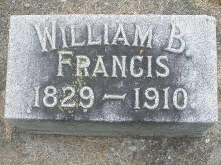 FRANCIS, WILLIAM B. - Warren County, Ohio | WILLIAM B. FRANCIS - Ohio Gravestone Photos