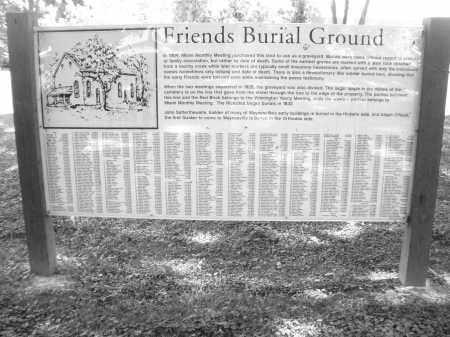FRIENDS, BURIAL GROUNDS - Warren County, Ohio   BURIAL GROUNDS FRIENDS - Ohio Gravestone Photos