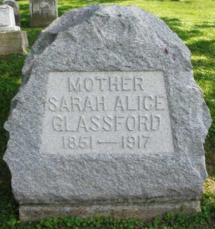 GLASSFORD, SARAH ALICE - Warren County, Ohio | SARAH ALICE GLASSFORD - Ohio Gravestone Photos