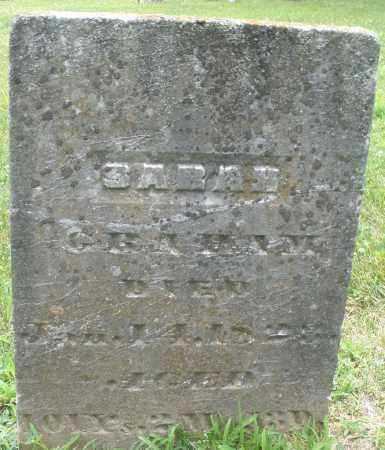 GRAHAM, SARAH - Warren County, Ohio | SARAH GRAHAM - Ohio Gravestone Photos