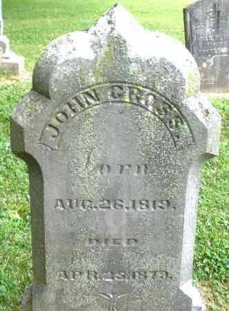 GROSS, JOHN - Warren County, Ohio   JOHN GROSS - Ohio Gravestone Photos