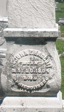 HAGGOTT, JOHN P. DR. - Warren County, Ohio | JOHN P. DR. HAGGOTT - Ohio Gravestone Photos