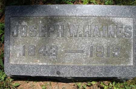 HAINES, JOSEPH W. - Warren County, Ohio | JOSEPH W. HAINES - Ohio Gravestone Photos