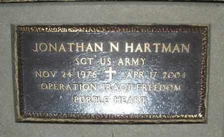 HARTMAN, JONATHAN N. - Warren County, Ohio | JONATHAN N. HARTMAN - Ohio Gravestone Photos